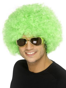 70's Unisex Funky Afro Crazy Clown Wig - Green
